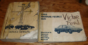 1992 Ford Taurus    Mercury    Sable    Shop       Service    Manual  EVTM
