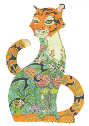PAGAN WICCAN FINE ART GREETING CARDS Tiger BIRTHDAY ANIMALS DM COLLECTION A