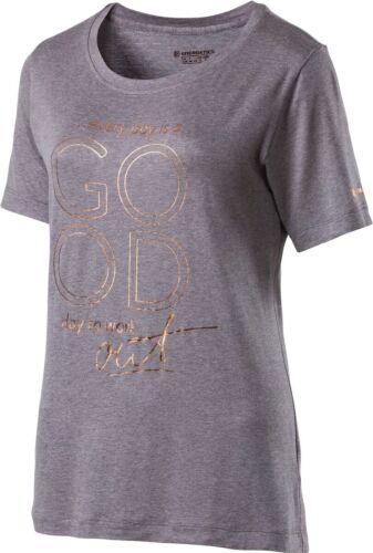 ENERGETICS Femmes Loisirs Fitness Gymnastique T-shirt Edita gris chiné