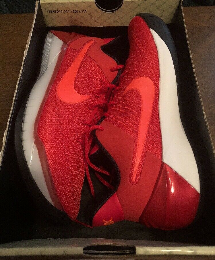 best service f81b5 25c0a New Men s Nike Kobe A.D. University Red Black Size 10 Retail 160 baac3a