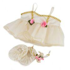 Marfil Y Oro Bailarina oso de peluche ropa para adaptarse a 14-18in (40cm) Build A Peluche