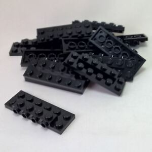Lego 100 New Black Plates Modified 2 x 2 x 2//3 with 2 Studs on Side Pieces