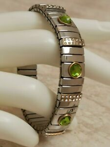 Silver-Peridot-August-Birthday-Bracelet-Wedding-Bridal-Party-Gift-Green-2ct-Hmde