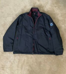 Paul Smith SPORT SAIL Jacket Coat NAVY Blue Quilted lining Size L
