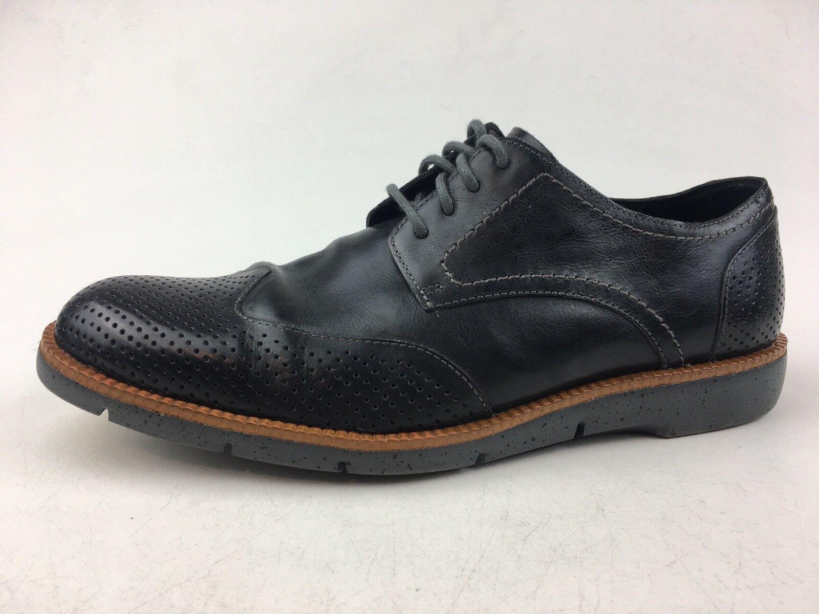Donald J. Pliner Edd-61 Perforated Wingtip Oxford shoes Size 9M, Black 1246