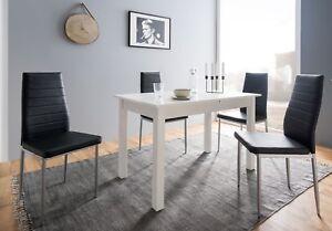 Details Zu Columbia Esstisch Günstig Küchentisch Weiß Zum Ausziehen Tisch 80x80 Oder 120x70