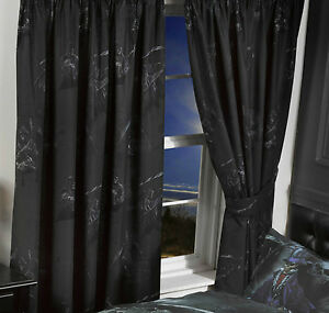 Gothic alchemy grim reaper emu skulls magistus 66 x 72 for Gothic net curtains