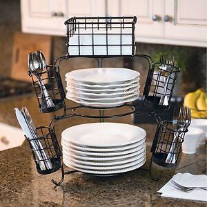 Image Is Loading Giftburg 7 Piece Stackable Buffet Caddy Party Spoons