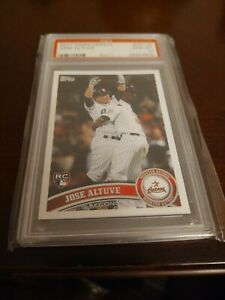 JOSE-ALTUVE-RC-2011-Topps-Update-US132-Houston-Astros-Rookie-PSA-10-GEM-MINT