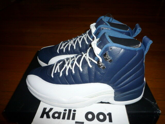 Nike Air Jordan 12 Retro Size 9 Obsidian 130690-410 Playoff Bred A
