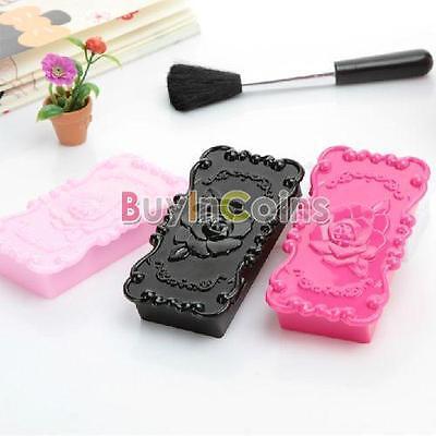 Fashion Rose Eyelashes Rings Jewelry Storage Mirror Box Makeup Case Present HK