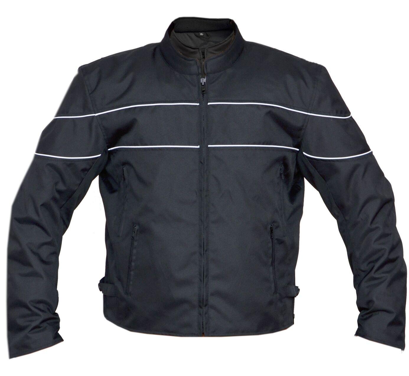 Hombre Predectora black Cordura textil Motociclista Chaqueta con doble