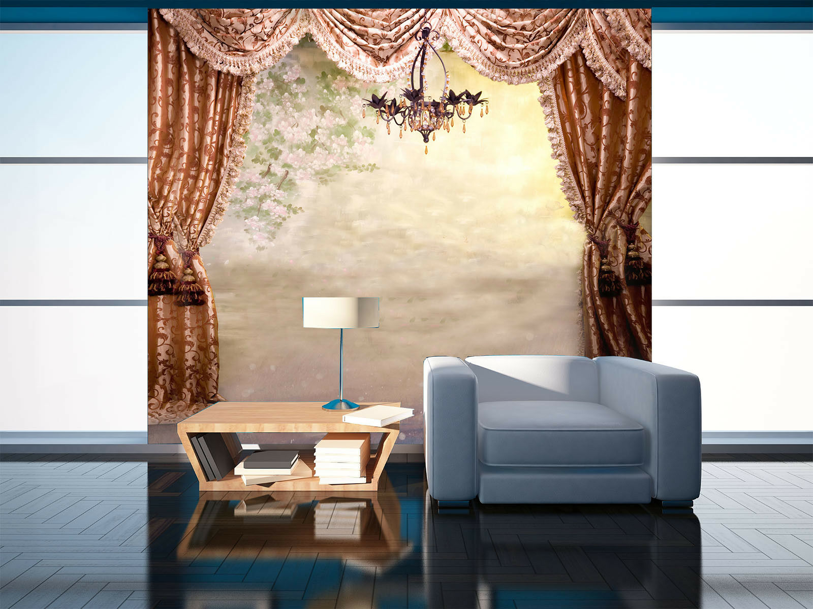 3D Foggy Curtain Light 455 Wall Paper Wall Print Decal Wall Deco Indoor Mural