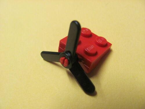 LEGO 2421 @@ Propeller 3 Blade Small (x1) @@ RED & BLACK @@ ROUGE ET NOIR