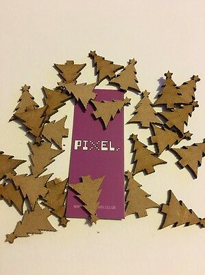 Formas De Mdf De árbol De Navidad Aprox 20 Mm X25 Mesa De Boda Libro De Chatarra Confeti Aspecto Guapo