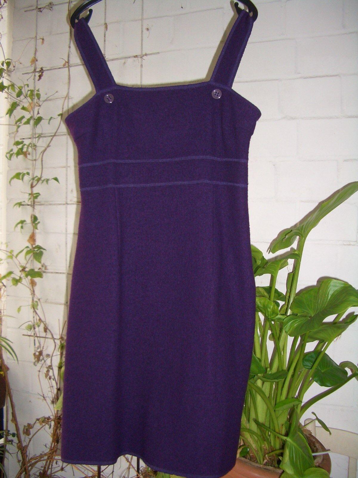 La rochelle Träger-Kleid Träger-Kleid Träger-Kleid mit Jacke - gekochte Wolle - lila Gr. 42 NW 9ad143