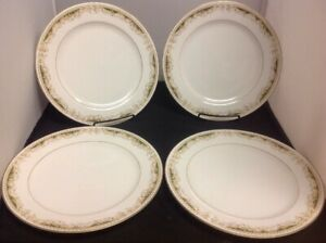 Signature-Collection-Fine-China-Queen-Anne-Set-of-4-10-1-4-034-Dinner-Plates