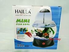 Mini Fish Bowl with Light - Classic Aquarium Fish Tank Set - Imported Hi Quality