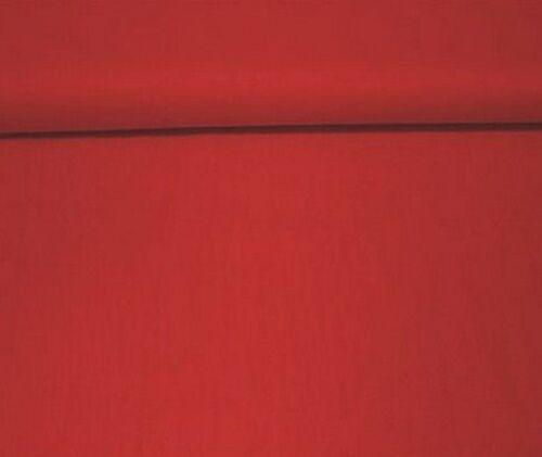 Baumwollstoff Meterware 1 lfm 160cm breit 100/% Baumwolle uni einfarbig Rot