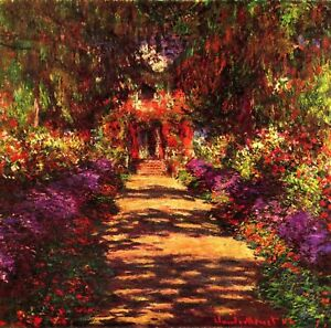 Path-in-Monets-garden-in-Giverny-CANVAS-WALL-ART-PICTURE-PRINT-20X20INCHES