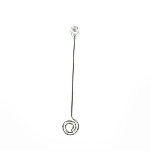 1pc Stainless Steel Spiral Honey Stirring Rod Mixing Sticks Honey Mixing Spoon I