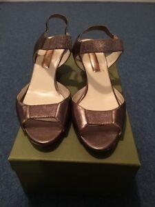 Leather 39 Shoes Sanderson Rupert Gold Sandals qv6ppt