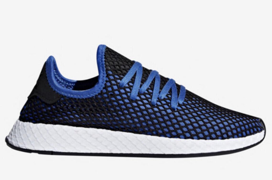 Adidas Original Deerupt Runner bluee Black Mens Lifestyle Sneaker B41764, size 8