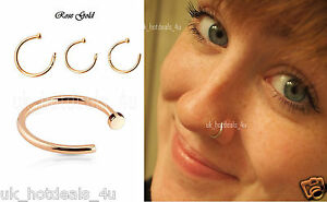Extra Small Rose Gold Filled Nose RingHoop EarringTragusHelix