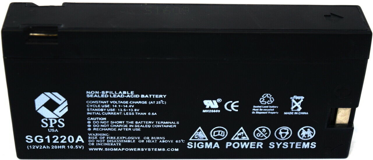 SPS Brand 12V 2Ah Replacement battery (Camcorder Battery) - SG1220A