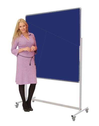 Mobile Noticeboard Pinboard Display Board 1500mm x 1200mm Landscape Blue