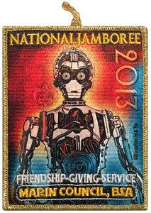 2013-Boy-Scout-Jamboree-Marin-Council-JSP-CSP-Patch-Star-Wars-Set-C3PO-BSA-Badge