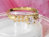 rg116  WOMENS PRETTY ELEGANT  SIMULATED DIAMOND SOLITAIRE RING SOLITARIE  RING