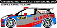 DECALS 1/43 CITROËN DS3 RRC #74 - KUBICA - RALLYE ADAC 2013 - MF-ZONE D43231