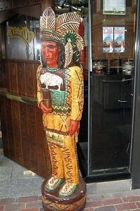 Details About 6 Cheers Tv Cigar Store Indian 6 Ft Wooden Sculpture Replica By Frank Gallagher