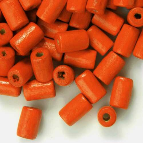 30g 200pcs Approx Loose Wood Spacer Wooden Beads Charms Tube 8mm Hot Sale BW
