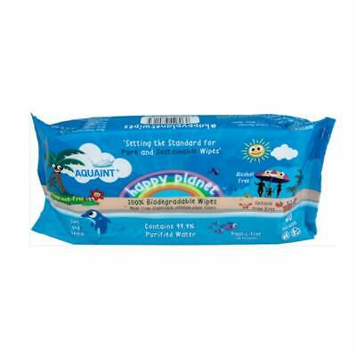 Happy Planet Baby Nappy Wipes 100/% Biodegradable 0/% Plastic 99.9/% Water Bulk