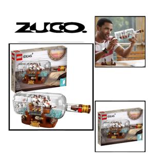 LEGO Ideas Ship in a Bottle 21313 Expert Building Kit Model Ship Collectible