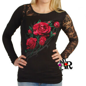 SPIRAL-DIRECT-DEATH-ROSE-LONG-SLEEVE-T-SHIRT-TOP-BLACK-GOTHIC-ALTERNATIVE