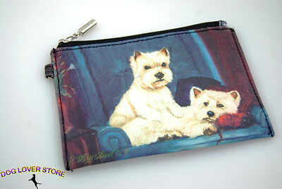 Westie Dog Bag Zippered Pouch Travel Makeup Coin Purse