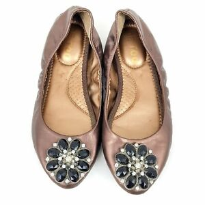 Metallic-Gold-Brown-Ballet-Flats-Women-039-s-Shoes-Stretch-Classic-Comfort-Foldable