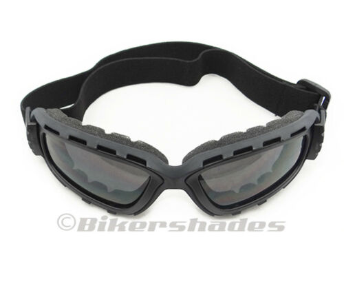 Extra Large Motorcycle Goggles Adjustable Strap Biker Ski Yellow Clear Grey Lens