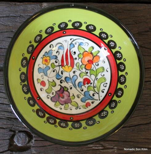 Colourful 12cm,handmade Turkish ceramic bowls hand painted Ottoman designs
