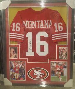 purchase cheap 9968b aefe1 Details about JOE MONTANA AUTOGRAPHED SAN FRANCISCO 49ERS FRAMED JERSEY.  PSA COA !!
