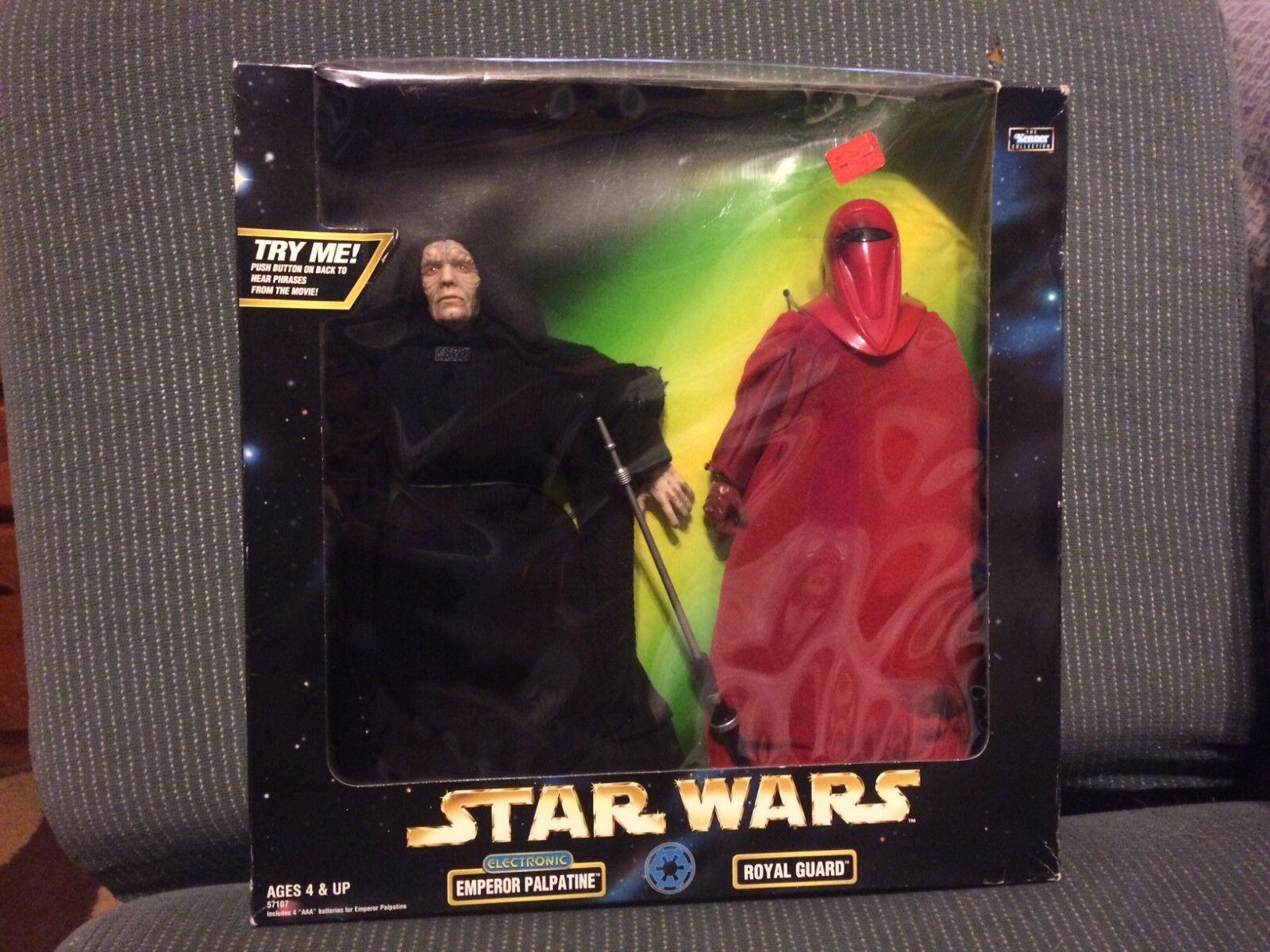 1998 Star Wars 12'' Emperor Palpatine & Royal Guard UNOPENED