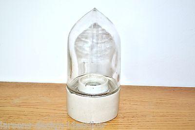 Bauhaus Wandlampe Aussenlampe Wandleuchte Porzellan Glaskolben Industrie Loft #