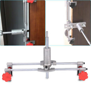 Image is loading Door-Lock-Fitting-Jig-Mortice-Kit-Wrench-Spanner-  sc 1 st  eBay & Door Lock Fitting Jig Mortice Kit +Wrench Spanner 3 Cutters Door ...