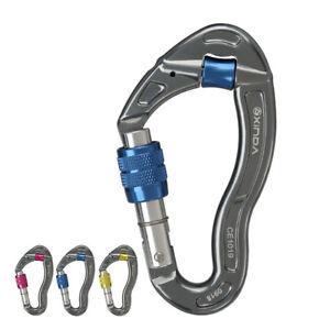 25KN-Aluminum-Carabiner-Clip-Hook-Screw-Locking-for-Mountaineering-Rock-Climbing