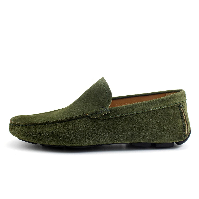 MOCASSINI hombres VERDI car zapatos fatti a mano in Italia GIORGIO REA zapatos 7874VE