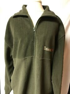 Timberland Olive GreenEbay Pullover 14 Sz Fleece xl Zip Mens Okn80XPw