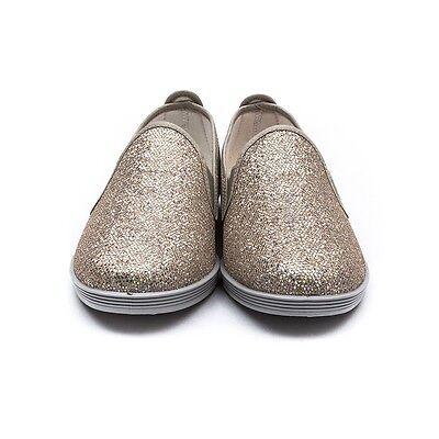 Mujer FLOSSY ORBA Dorado Zapatillas Alpargatas Zapatos Sin Cordones